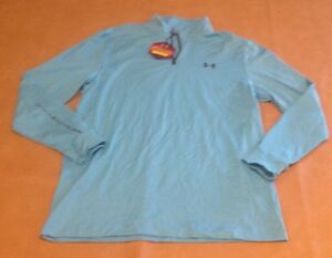 NWT Under Armour UA Golf Mens Shirt Loose Teal Long Sleeve Solid Cold Gear XL