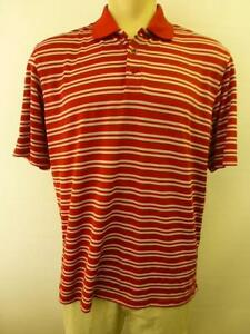 mens UNDER ARMOUR red LCC Lincoln Country Club short sleeve polo golf Shirt sz L