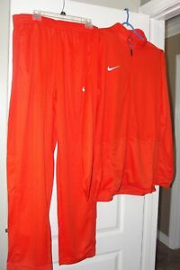 NIKE DRI-FIT BASKETBALL WARM UP SUIT JACKET + PANTS ORANGE + BONUS SHIRT
