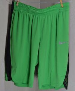 NIKE Dry-Fit Sports ELITE Shorts GREEN NEON YELLOW BLACK (Men's Sz MEDIUM)