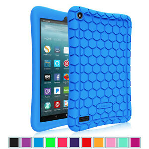 For All-New Amazon Fire 7 2017 2019 Tablet Silicone Case Cover Kids Friendly