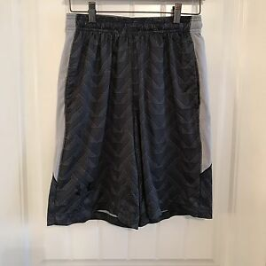 Under Armour Mens Loose Fit Gray Athletic Running Gym Shorts Polyester Sz Small