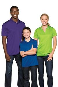 12 Custom Embroiderd Sport-Tek Polo Golf Dry Fit Shirt ST640 $14 ea Shirts