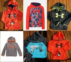 BOYS UNDER ARMOUR HOODIE SWEATSHIRT ~ LOT OF 23~ SIZE 4 - 5 - 6 - SM ~ XS NWT