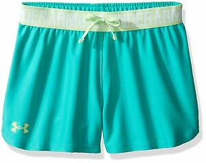 Under Armour Girls' Play Up Shorts Absinthe GreenSummer Lime Youth Medium