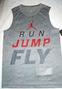 NWT BOY's SM NIKE AIR JORDAN DRI-FIT SLEEVELESS T-SHIRTTANK TOP 951236MSRP$26
