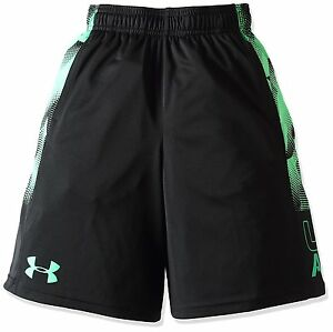 Under Armour Boys Stunt Printed Shorts Youth Small Black