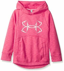 Under Armour Girls Shoreline Terry Hoodie GalaBallet Pink Youth X-Large