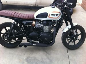 Triumph Scrambler MassMoto Exhaust Full System 2in1 Trucker Black New