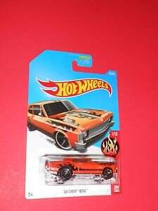 HOT WHEELS '68 CHEVY NOVA HW FLAMES 61/365 SHIPS FREE