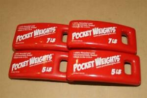 Lead Weight Packages 24lbs (2x5lb 2x7lb) perfect for Scuba Diving BCs