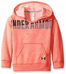 Under Armour Girls Favorite Fleece Hoodie Pink ChromaBlack Youth X-Small
