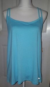 New Womens Blue Champion Duo Dry Loose Fit Athletic Tank Top Shirt Size Medium