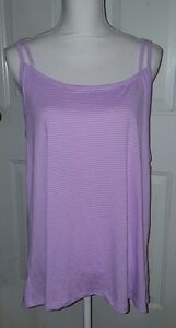 New Womens Purple Champion Duo Dry Loose Fit Athletic Tank Top Shirt Size XL