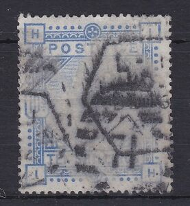 GB105) Great Britain 1883 10- Ultramarine on Blued Paper