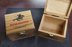 Cabela's Winchester Wood Limited Edition 22 LR Long Rifle Empty Box Set of 2