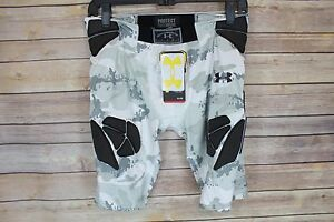 NEW Under Armour Youth Gameday Camo padded shorts YMD Medium White #2457 - 58