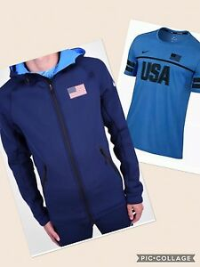 Nike Mens Team USA 'Lot: '16 Olympics XL NWT Hoodie Nike USA L DriFit Shirt