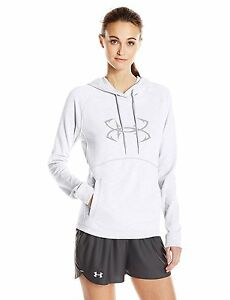 Under Armour Womens Ocean Shoreline Terry Hoodie WhiteOvercast Gray X-Large