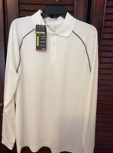 NWT UNDER ARMOUR HEAT GEAR LOOSE GOLF POLO LONG SLEEVED SIZE LARGE