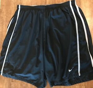 NIKE Boy's Fit Dry Running Athletic Shorts wBuilt in Shorts Size XL Black