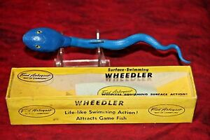VINTAGE NEW OLD STOCK FRED ARBOGAST WHEEDLER FISHING LURE WITH BOX