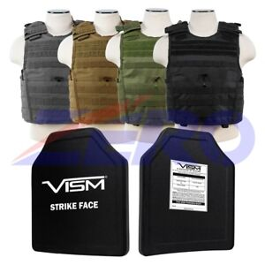 Tactical Carrier Vest Bullet Proof Ballistic Hard Plate Panel Level III M-2XL