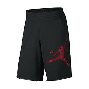 Nike Mens CITY KNIT GRAPHIC SHORT BLACK HEATHERBLACKGYM RED XS