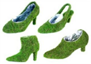 Super Moss 55577 Deco Ladies Shoes Moss Planters Assorted Styles Pack of 16