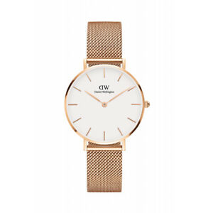 Daniel Wellington Women Classic WhiteRose Gold Face Petite Melrose Watch 32mm