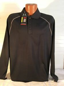 NWT UNDER ARMOUR HEAT GEAR LOOSE LONG SLEEVED GOLF POLO SIZE LARGE