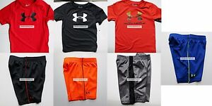 UNDER ARMOUR BOYS 3T SHORTS ~ 4 PAIRS SHORTS ~ 3 T-SHIRTS ~ BRAND NEW