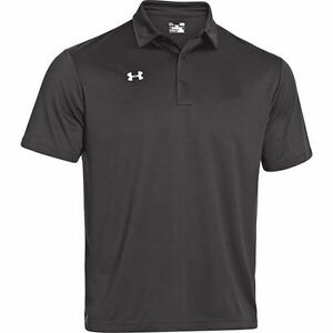 *CLEARANCE* Mens Under Armour Heat Gear Loose Fit Black SS Golf Polo Shirt NWT