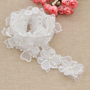 Floral Beads Lace Edge Sewing Accessories DIY Women Wedding Ribbon Craft Decor $2.07