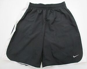 NIKE #SH6204 Boys Youth Size L Striped Running Basketball Black Fit Dry Shorts