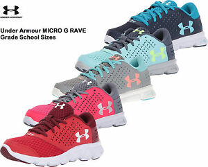 Under Armour Girls Shoes MICRO G RAVE GRADE SCHOOL Sneakers 1285435 NEW