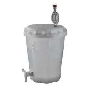 Conical Bottom Fermenter Bucket w Lid, Spigot, & Airlock Homebrew Beer Wine