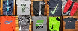 NIKE BOYS SIZE 2T ~ SHORTS ~ T-SHIRTS ~ DRI-FIT ~ NWT ~ $212 ~ 10 PIECES