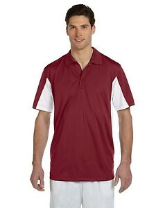 12 Custom Men & Women Sport Performance Color Block Micro Pique Polo Shirt $25 e
