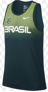 Nike Dri Fit Brazil Olympic Team Graphic Stripe Basketball PE Tank jersey men's