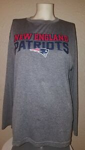 NWT NFL Team Apparel New England Patriots Dry Fit Long Sleeve Shirt Youth XXL 2X