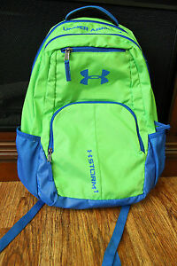 Under Armour Storm 1 Backpack Style 1265842 Green Blue School Bag