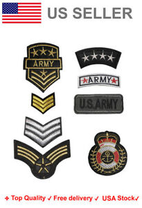 Army Embroidered Iron On / Sew On Patch Military soldier Applique Embroidery