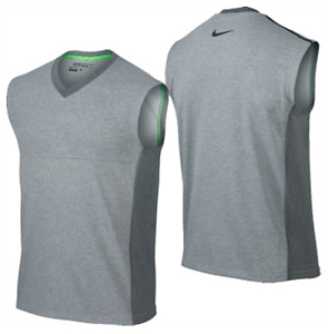 Nike Golf Dri Fit Tour Performance V Neck Wool Knit Vest shirt top therma men