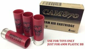 APS CO2 Toys Cartridge for Airsoft CAM870 (4pcs Pack RED) CAM001