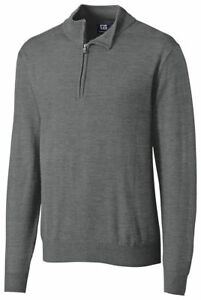 Cutter & Buck Men's Big & Tall Douglas Half Zip Mock Sweater. BCS07725