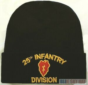 U.S. ARMY 25TH INFANTRY DIVISION TROPICAL LIGHT KNIT BEANIE WINTER WATCH CAP HAT