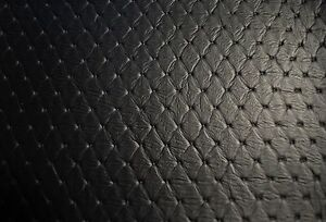 Vinyl Fabric Black Embossed Grain Stitch Diamond Marine Boat Upholstery 54