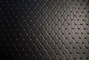 Faux Leather Upholstery Black Diamond Vinyl Fabric Embossed Stitch 54