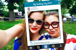 Instagram Style Cutout Photo Booth Frame - Perfect Prop for Wedding or Party